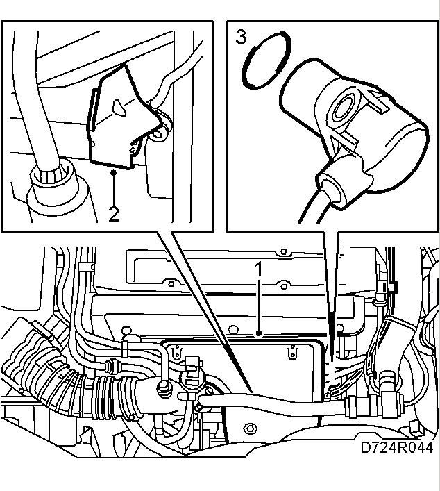 2003 saab 9 3 crank sensor location