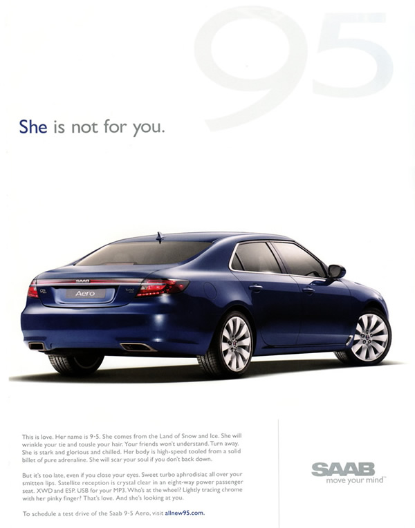 2010_Saab_9-5_ad_She_is_not_for_you