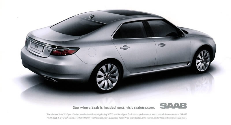 Saab 9 5 Print Adver Why There Is No Road Rage In Sweden