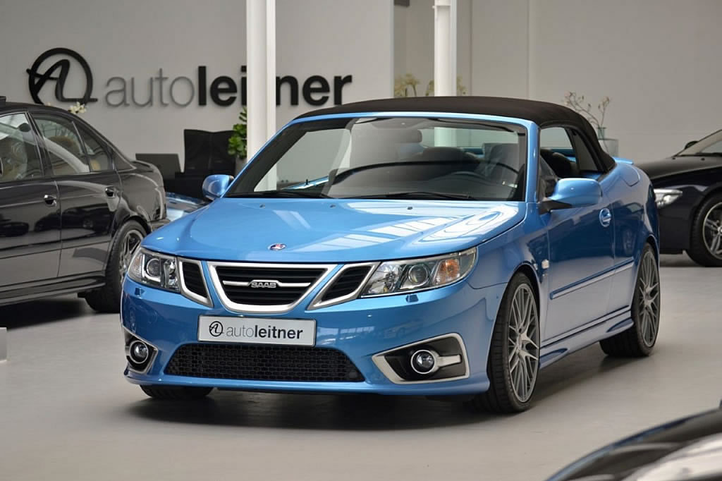 2012 Saab 9-3 Aero Convertible - Sky Blue Edition - SaabWorld